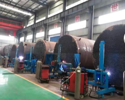 内蒙古伊东集团PVC转化器制作现场